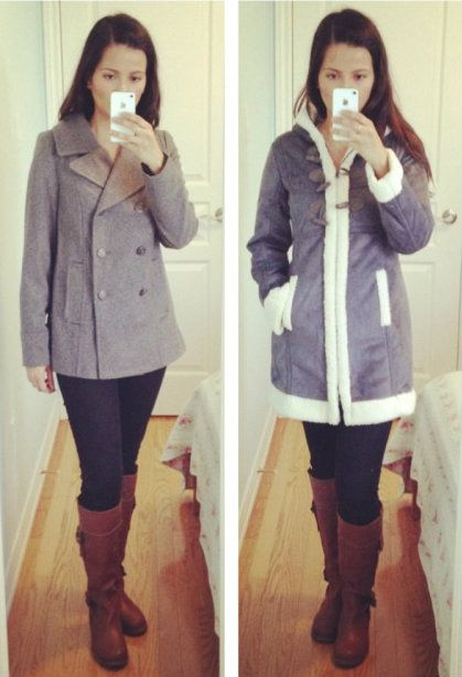 Old Navy Pea Coat and Old Navy Shearling Coat